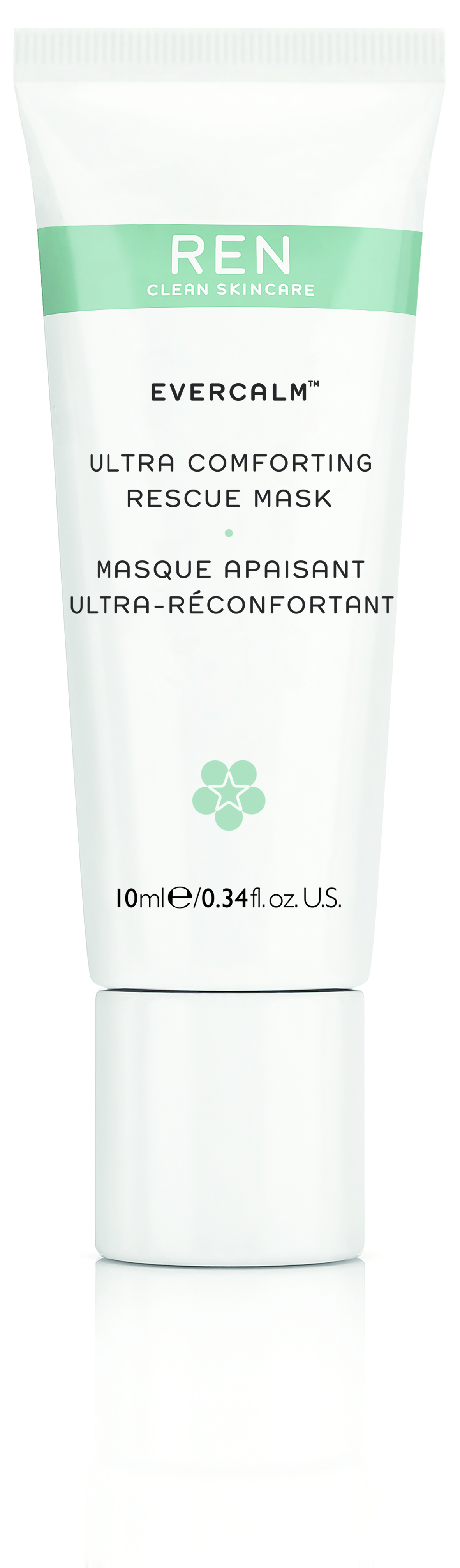 Masque Peaux Sensibles Evercalm REN en format voyage 10ML
